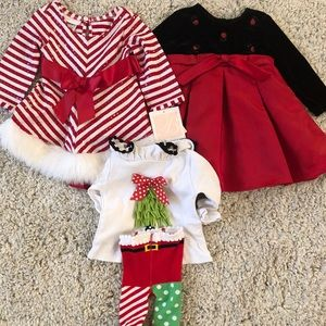 6-12m Christmas outfits
